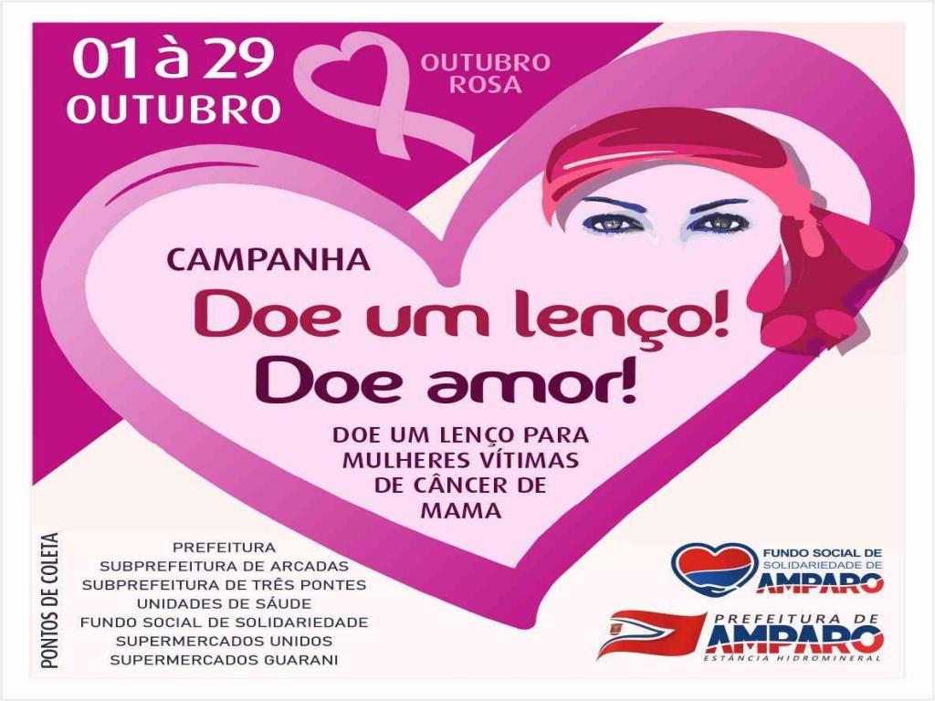 foto de Prefeitura de Amparo promove Campanha arrecada lenços para mulheres em tratamento de Câncer de Mama
